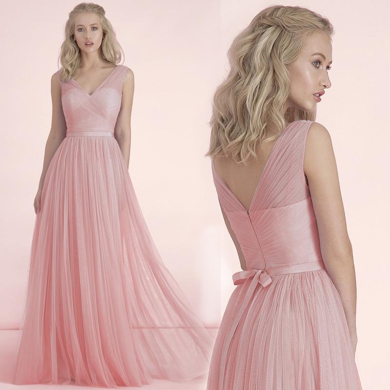2015 New Pink Bridesmaid Dress Women Dress Three Styles