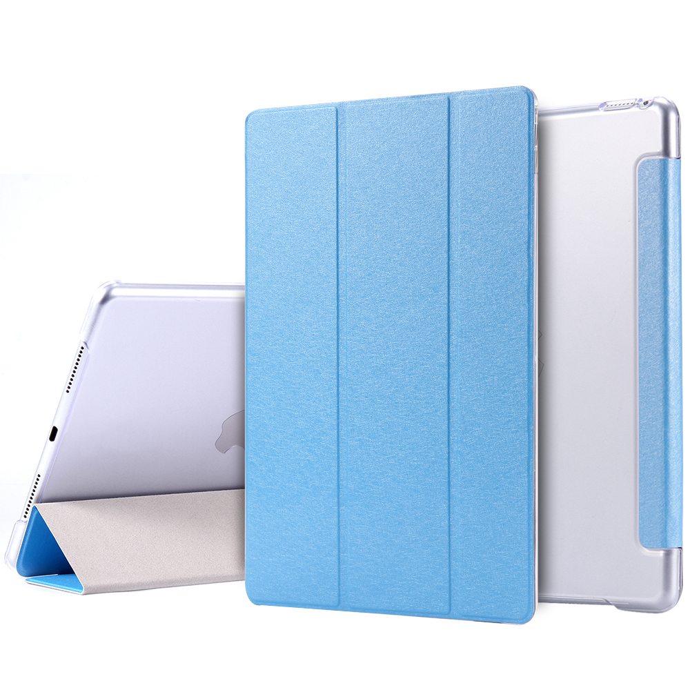 Luxury Silk Leather Case For iPad Pro Mini 9.7'' With Three Folded Stand Magnetic Flip Smart Sleep Tablet Cover For iPad Pro 9.7(China (Mainland))