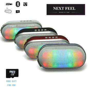 Мини-радио мощный портативный беспроводная связь Bluetooth таблетки из светодиодов огни импульс TF FM радио встроенный микрофон MP3 виртуальный объемный