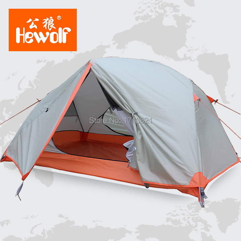 Male wolf outdoor tent camping equipment Double Double Pole winter rain than camping supplies<br><br>Aliexpress