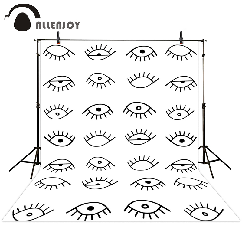 Allenjoy photographic background Eye black and white line drawing backdrops newborn christmas photo photocall 10ft*20ft(China (Mainland))
