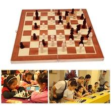 Holz-schachspiel Stück holz mit Board Aufbewahrungsbox Weihnachtsgeschenk Kinder Spielzeug International Chess(China (Mainland))