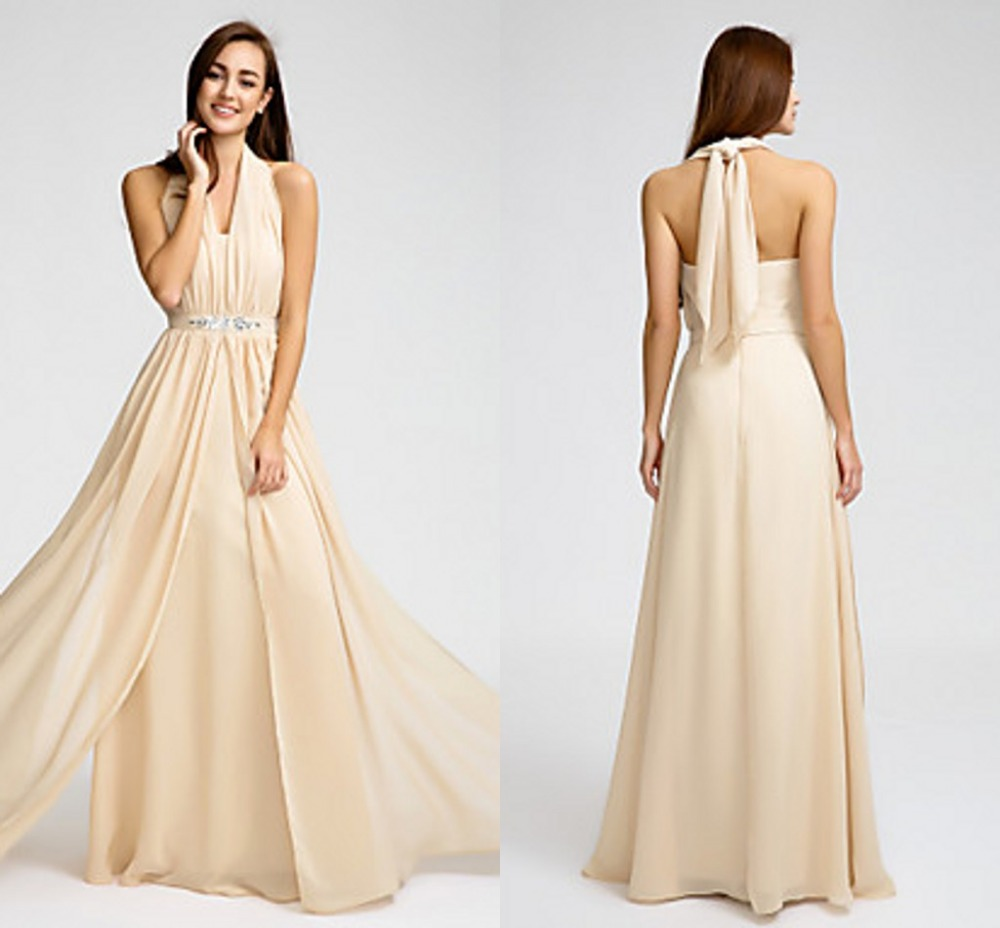 2016 long cheap custom made bridesmaid dresses champagne for Wedding dress plus size cheap