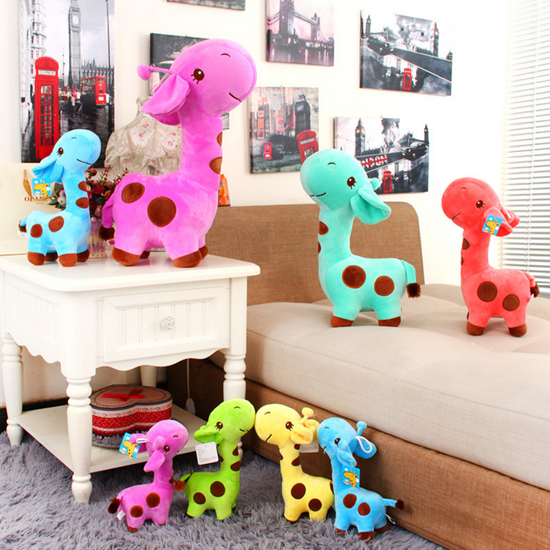 18 x 7 cm Cute Plush Giraffe Soft Toys Animal Dear Doll Baby Kids Children Birthday Gift 1pcs Free Shipping(China (Mainland))