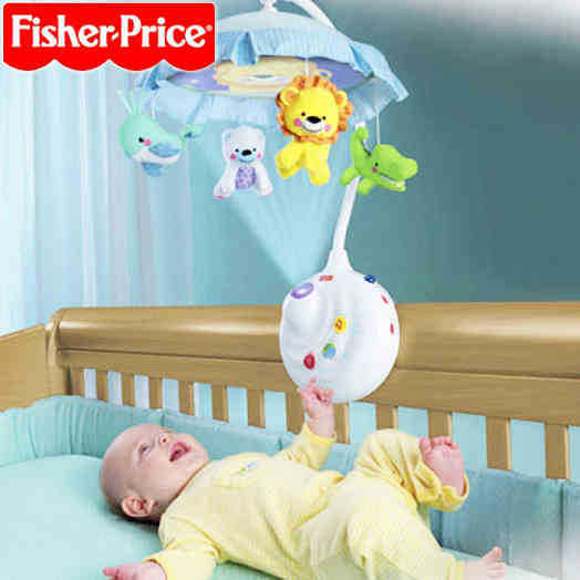 Baby Toys for 0-12 Months fisher Hand Bed Crib Musical Hanging Rotate bed Bell Ring Rattle Mobile(China (Mainland))