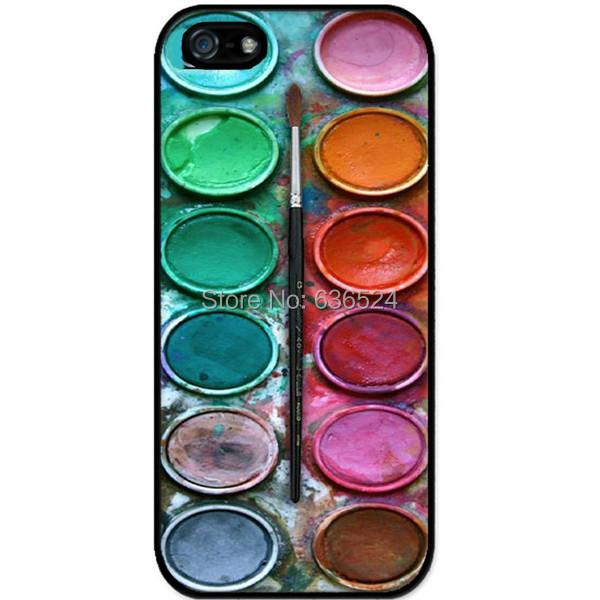Watercolor paint box design phone protection Hard Cover Case iphone 4 4s 5 5s 5c 6 6s 6plus plus 7 7plus - san shao ye store