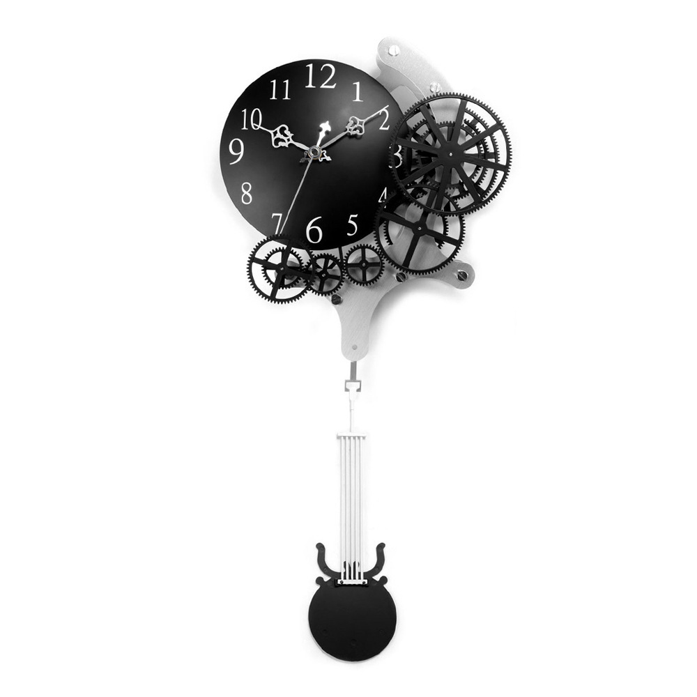 New Fashion Gear Wall Clock Pendulum Vintage Mechanical Metal Quartz Clocks Living Room Decor - JCFY SPECIAL DESIGN store