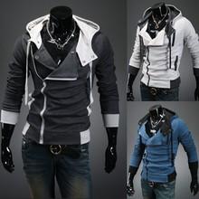 Новый 2017 Весна и Осень Моды Случайные Тонкий Кардиган Assassin Creed Толстовки Толстовка Верхняя Одежда Куртки Men, Размер M-6XL, W20(China (Mainland))