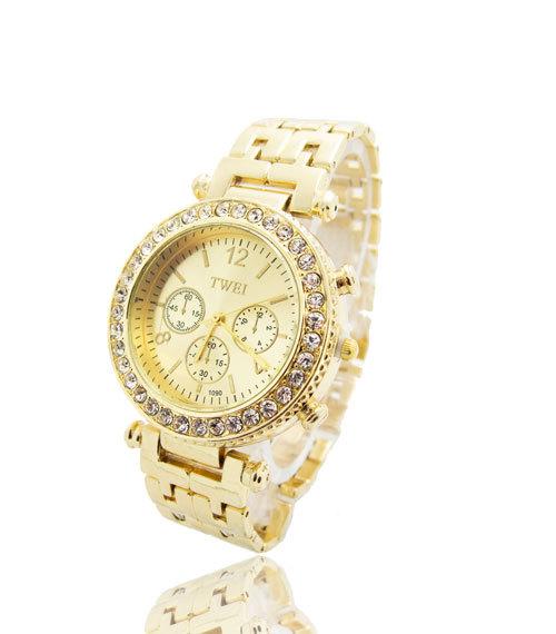 New Arrival Fashion Gold Plated Watch Women Ladies Crystal Quartz Dress Watch Wristwatches TW050XXZ<br><br>Aliexpress