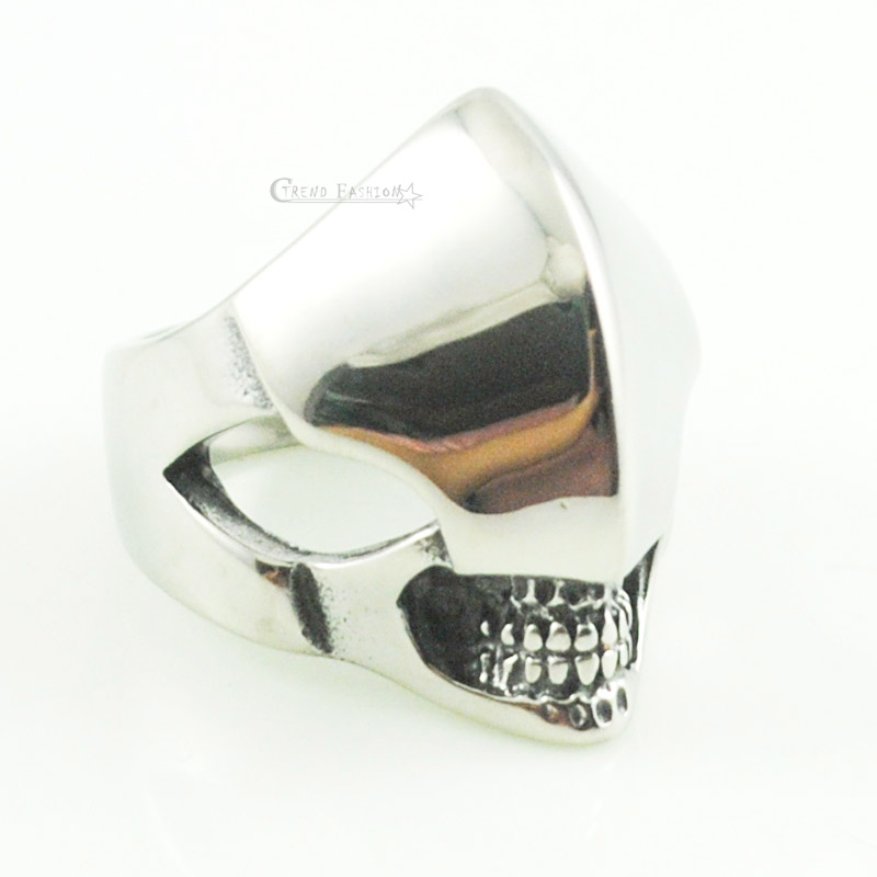 jewelry punk ring skeleton Masks Escort Soldiers Armor size 7-13 stainless steel rings skulls Profiled Head Ogre VR313(China (Mainland))