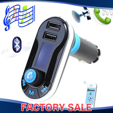 Buy Smartphone Bluetooth MP3 Player Handsfree Car Kit + Dual USB Charger + FM Transmitter + Handsfree Micro SD/TF Card Reader for $12.98 in AliExpress store