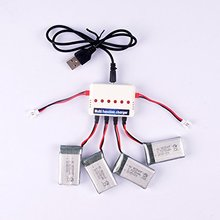 4pcs 3.7V 780mAh Battery and 1to6 charger for syma X5c X5sc X5sw RC quadcopter drone spare parts