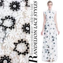 2016 new Handmade diy, net water soluble lace, embroidery fabric dress cheongsam overcoat 5yard/lot(China (Mainland))