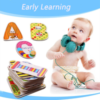 Children Kids Colorful Educational Toys A- Z 26pcs Kids Letters Puzzles Cards Alphabet Early Learning Logical Game Toys