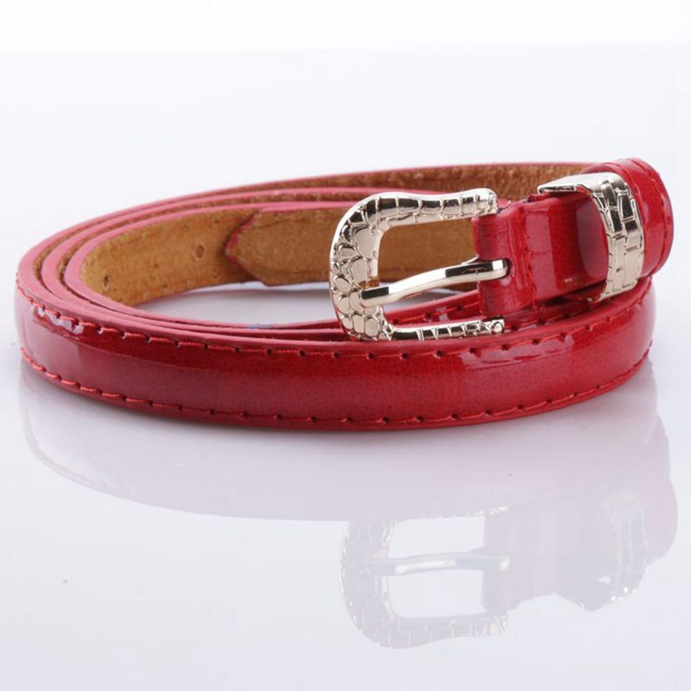 Candy Color Metal Buckle Thin Casual Belt Women Ladies Decorative Belt Fashion Thin Waistband Cummerbund For Apparel Accessories(China (Mainland))