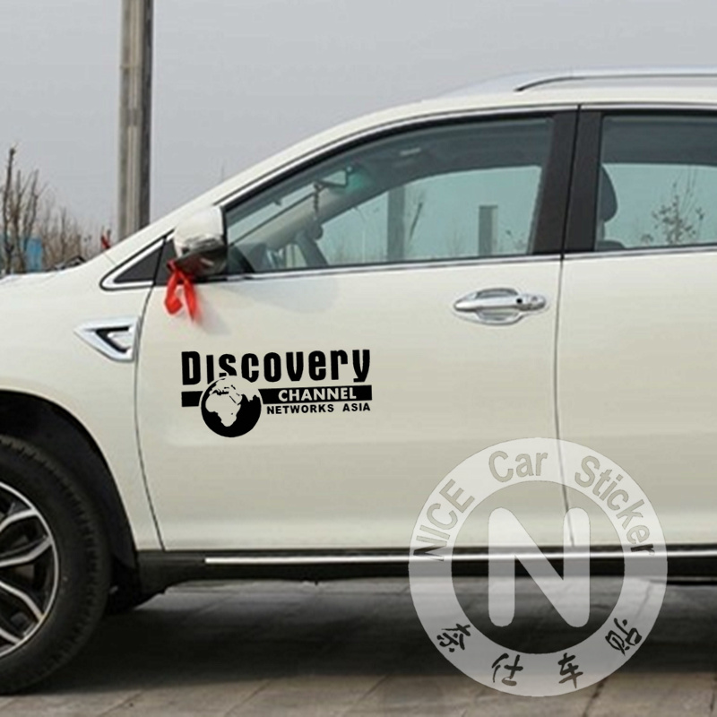Car Stickers Discovery Channel Networks Asia Creative Decals Waterproof Auto Tuning Styling 28*13cm & 50*23cm D20