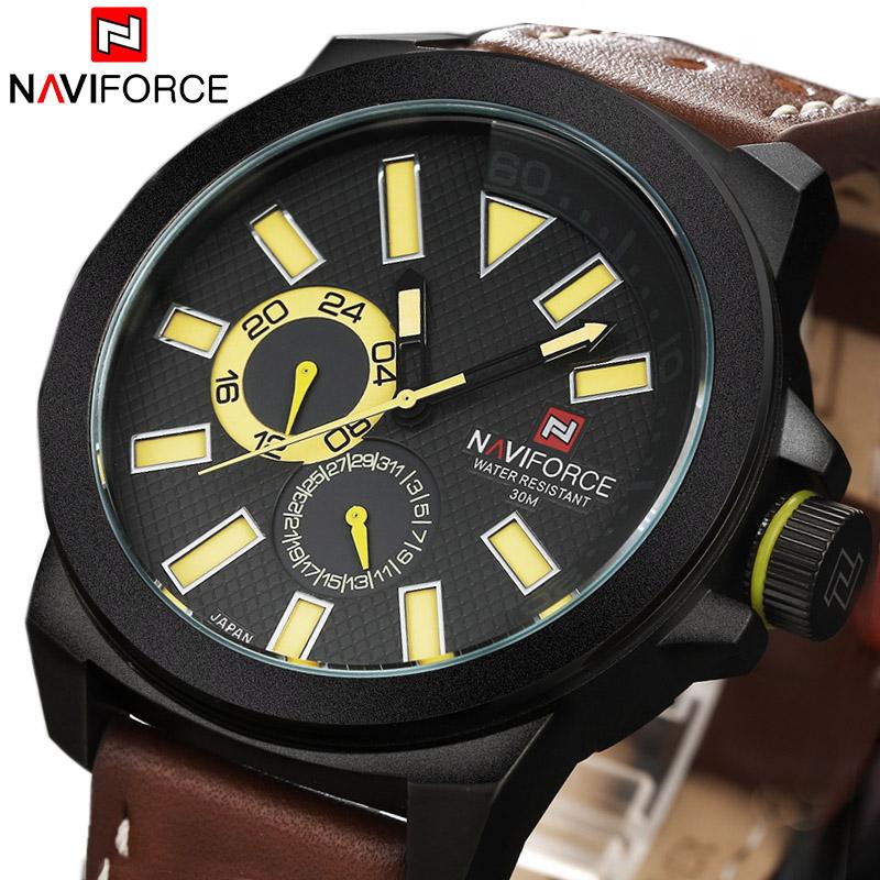 2015 New Mens Sports Watches Men Quartz 24 Hour Date Clock Man Leather Strap Analog Army Military Wrist Watch Relogio Masculino<br><br>Aliexpress