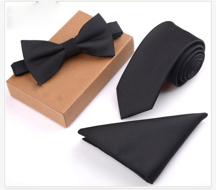 Polyester Skinny Necktie Ties 3 pcs /Set For Men Wedding Suit Slim Necktie Classic Solid Color Tie Casual Tie WHJL005