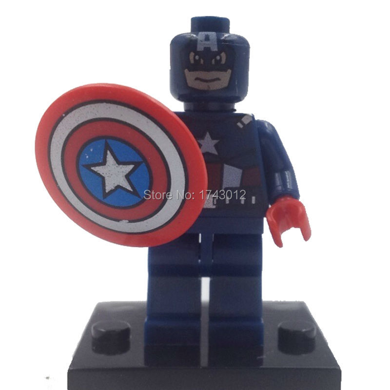 XINH 001 Marvel Super Heroes Avengers Minifigures 5 Captain America Building Blocks Toys Children - Gifted Monkey Store store