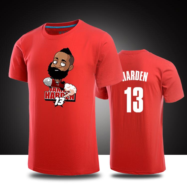 James Harden Cartoon Logo T Shirts Harden Jersey Mens T
