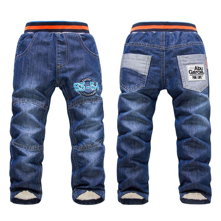 XK-109 2017 hot selling KK-Rabbit Kids Pants Thick Winter Warm Pants Children Pants Baby Boys/Girls Jeans for winter retail