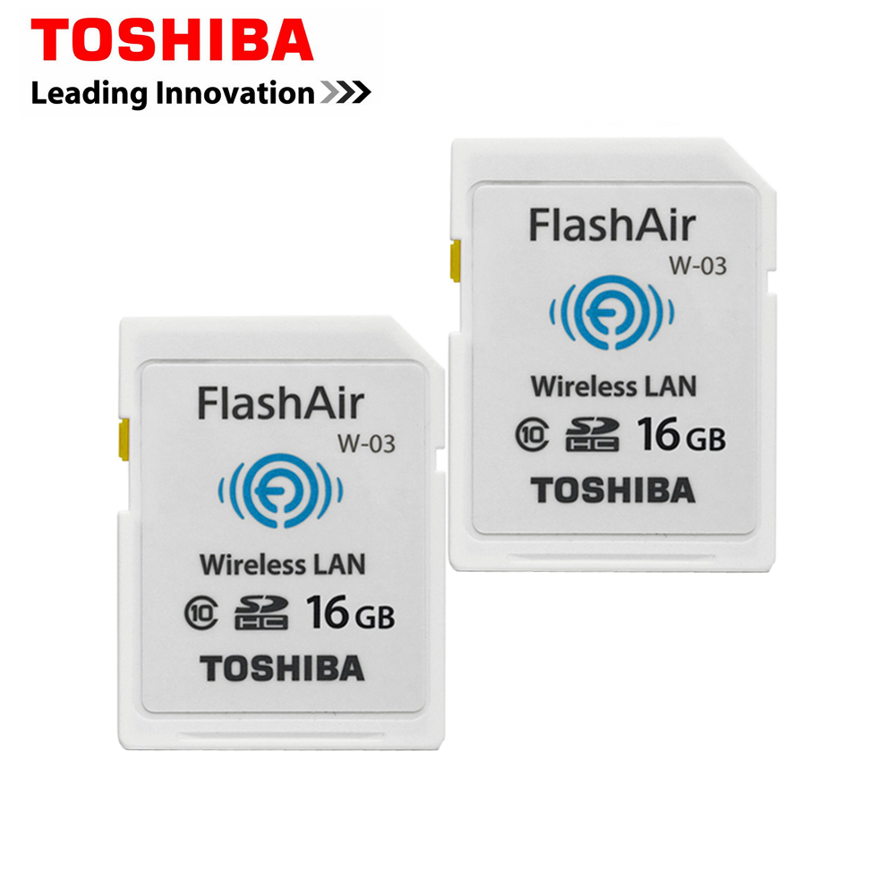 Original Toshiba Memory Card 16GB SD Card WIFI FlashAir Class 10 SDHC Flash Memory Card Wireless transmission enjoy easy viewing(China (Mainland))