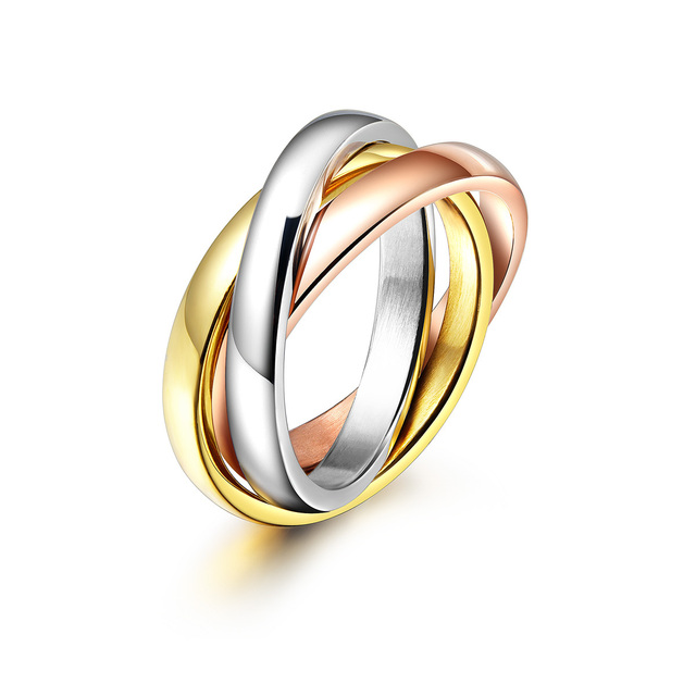 rose gold plated jewelry brief circle ring lovers birthday gift High quality,not lose color antiallergic IFR023