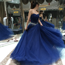 Charming Line Sweetheart Beaded Prom Dresses Formal Woman Long Gowns vestidos de formatura galajurken ballkleider - Instock Dress store