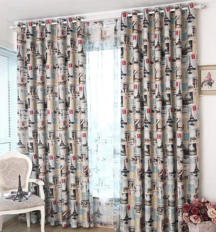 achetez en gros rideaux tour eiffel en ligne des grossistes rideaux tour eiffel chinois. Black Bedroom Furniture Sets. Home Design Ideas