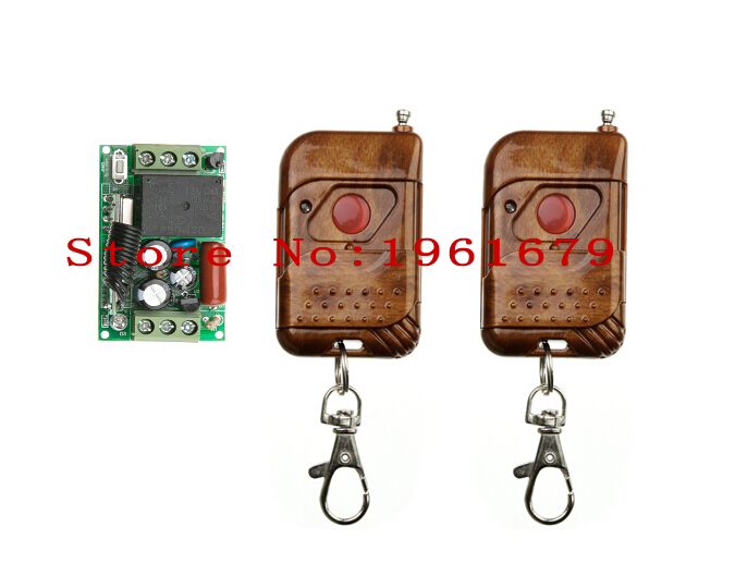 RF Wireless Remote Control AC 220 V 1 CH 50*30*18mm 2 transmitter & 1 Receiver Learning code(China (Mainland))