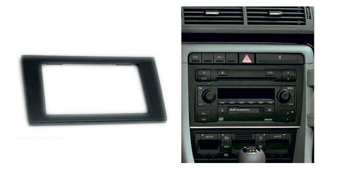 Buy double din car radio fascia for audi for Mueble 2 din audi a4 b6