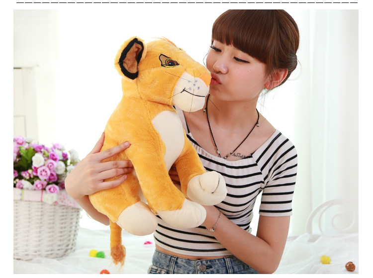 Watching The Lion King Simba Plush Baby Toys 35cm 50cm 60cm Stuffed Animals pelucia Kids Doll Gifts Soft Toys for Children(China (Mainland))