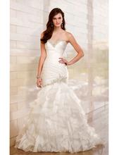 DHL Free Shipping Romantic Western Wedding Dresses Sweetheart Backless Bride Dress Elegant Robe De Mariage Mermaid wedding gowns(China (Mainland))