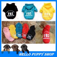 Hot!!!Dog Coat Pet Jacket FBI Dog Clothes Puppy Apparel Fashion Design Pet Products Cat Clothes Clothing High Quailty