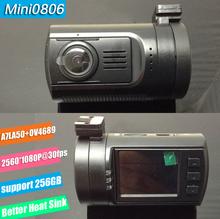 Mini 0806 Super 1296P Parking Ambarella A7LA50 Support 256G Car DVR Camera Video Recorder G-sensor Night Vision Mini Dash Cam(China (Mainland))