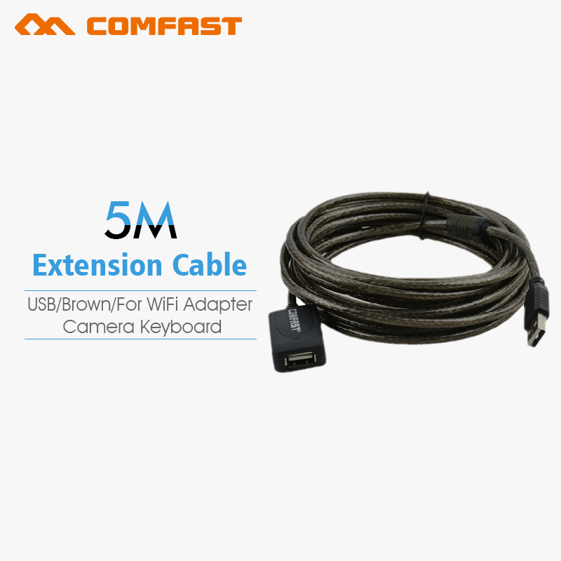 Free shipping Comfast 5m USB 2.0 Extension Male to Female Connector Cable for Mouse/Keyboard/Camera u501(China (Mainland))