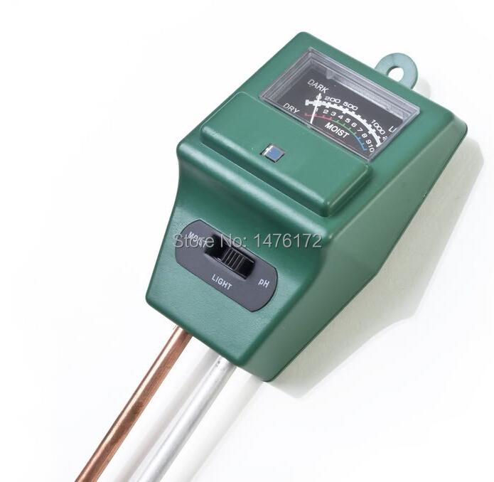 2015 Hot Selling 3 in 1 Gardening Detector Soil PH Moisture Soil Light Test Meter Free