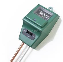 2015 venta caliente 3 en 1 jardinería Detector examinador de PH , humedad del suelo luz metro de prueba Shippping libre