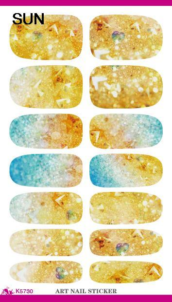 Gold Flash Bling Bling Nail Diy Art Tips Decoration Sticker Nails Wraps Care Styling Glitter Rhinestones Water Transfer Stickers(China (Mainland))