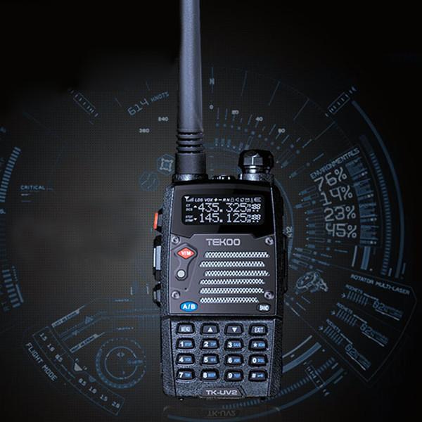 2 pcs/lot Dual-Band/Display/Standby 8W VHF/UHF LCD FM Transceiver LED Light Walkie Talkies Two Way Radio(China (Mainland))