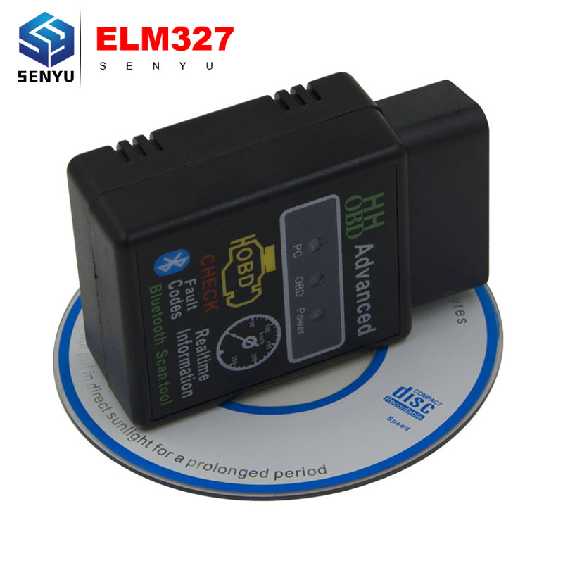 Newest version V1.5 ELM327 Torque Android Bluetooth OBD2 OBDII CAN BUS Check Engine HH ELM 327 Bluetooth Auto Scanner(China (Mainland))