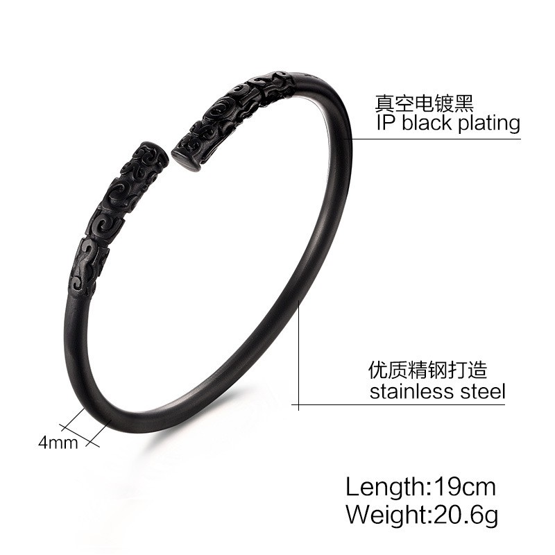 u15d6silver  gold  black jewelry vintage relief  u15d7 golden golden cudgel bangles monkey king  u03a6  u03a6 bar bar