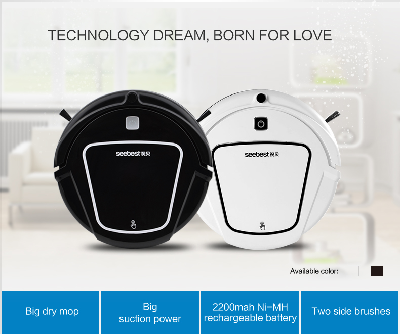 Intelligent D720 Robot vacuum cleaner for home with 500ml dustbin, 1000Pa suction power Auto charge Vacuum cleaner Aspirador(China (Mainland))