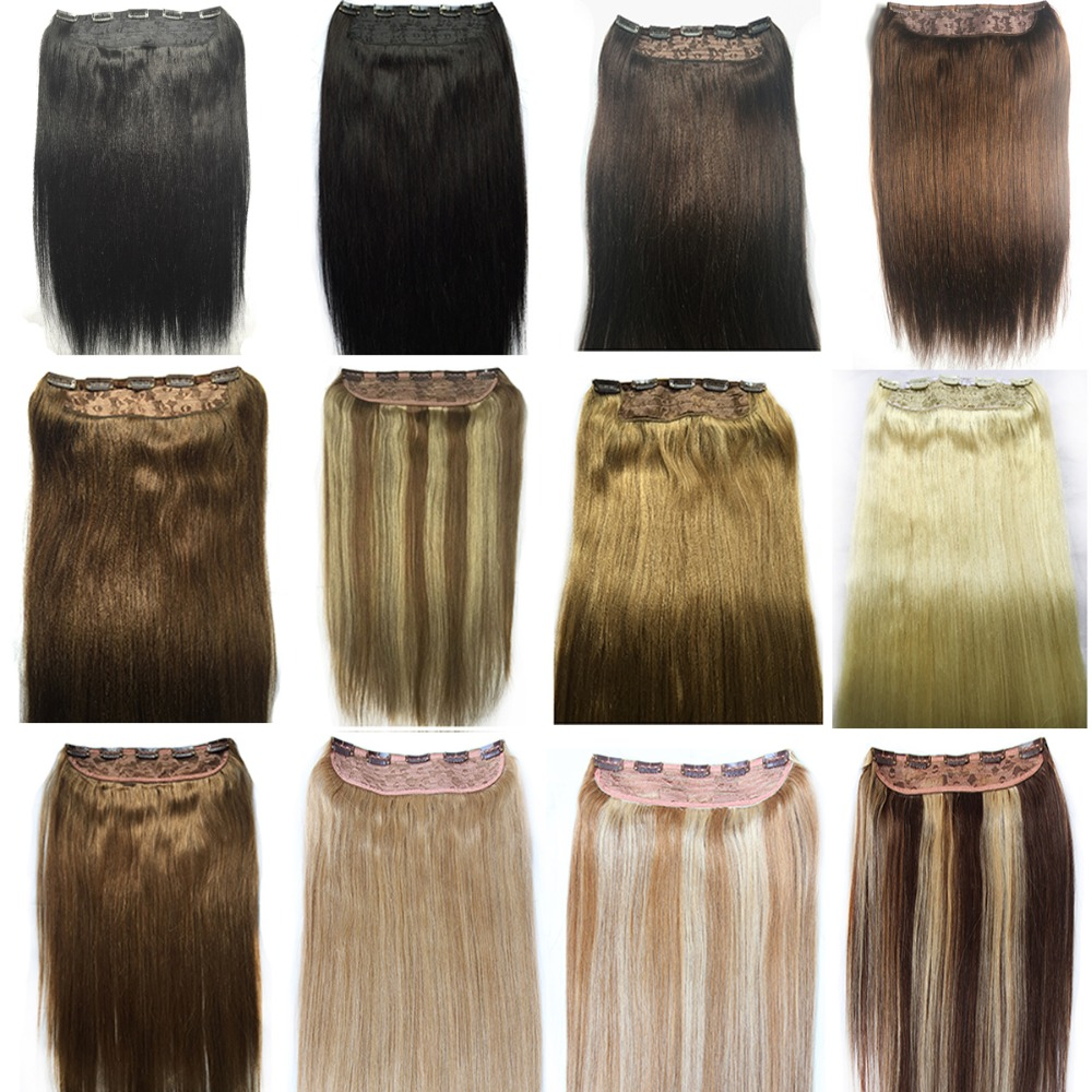 150g Wholesale 2014 New Full Head One Piece Clip In 100% Remy Human Hair Extensions Hairpieces 20/24/28/30 inch Free Shipping<br><br>Aliexpress