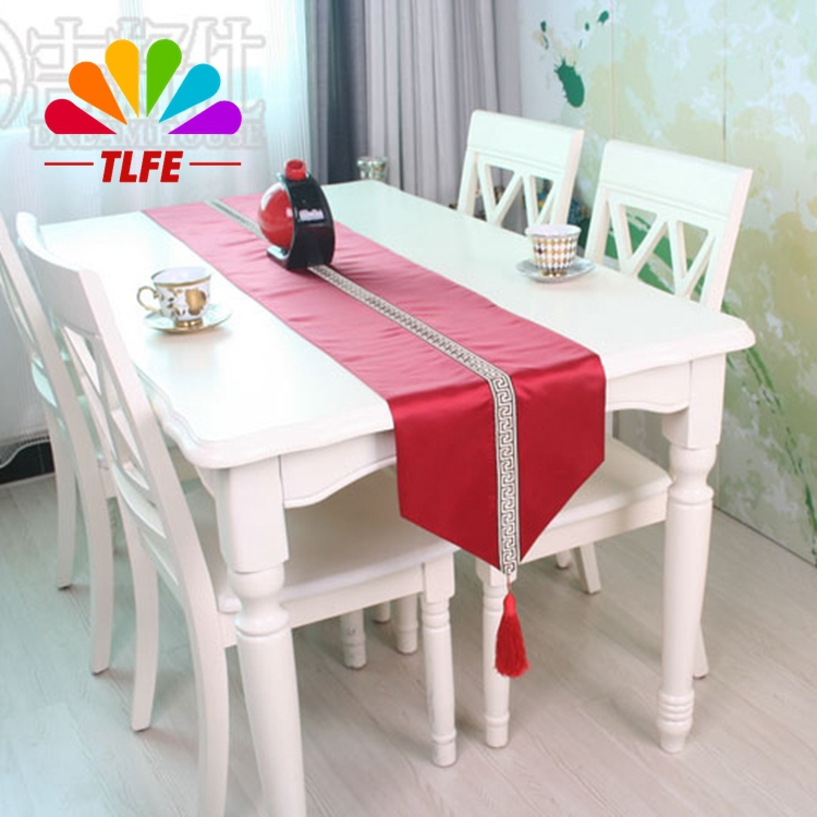 product 3 colors home decoration huosehold tea table use striped style red black table runner table cloth cover for hotel TLFE ZQ042