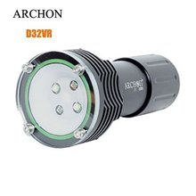 ARCHON W38VR D32VR Flashight Diving Torch 60M Underwater 1400 lumen White 2*CREE XM-L U2 LED video with battery and charger