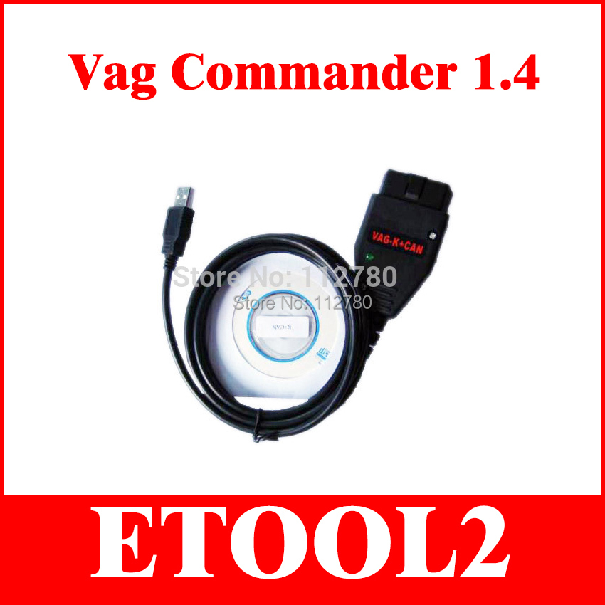 VAG K CAN COMMANDER Full 1.4 vag k + can commander 1.4 OBD2 Diagnostic Cable for VW Serial Free Shipping(China (Mainland))