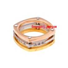 Have a embrace with the beauty of simplify and fashion steel ring(China (Mainland))