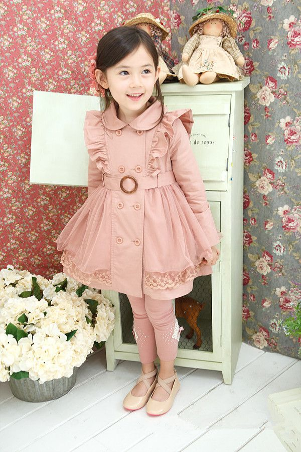 Baby Girl Trench Coat Jacket Kids Clothes Overcoat Cloak for Girls Korean Baby Clothes Girls Pink Trench Coat Children Fashion<br><br>Aliexpress