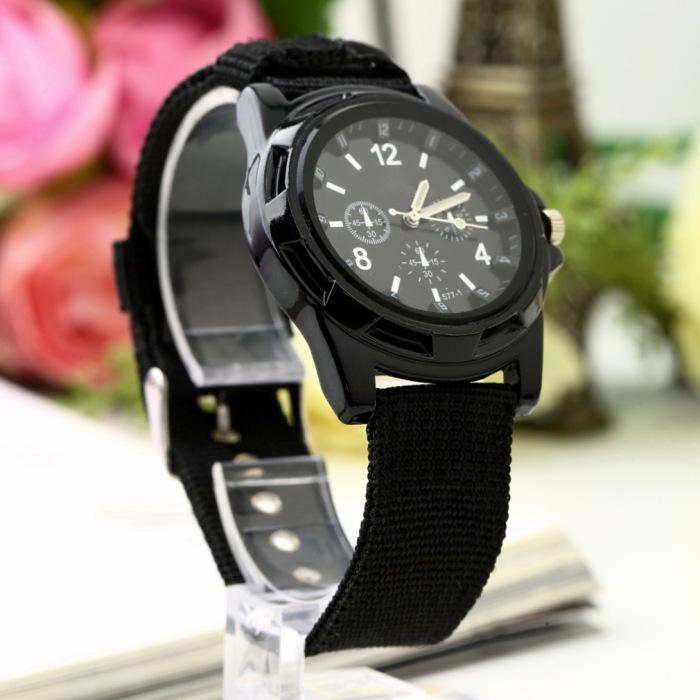 10pcs Unisex Analog Men Luminous Quartz Wrist Watch Canvas Belt Army military Sport Style Worldwide FreeShipping<br><br>Aliexpress
